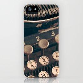 Vintage Typewriter - Macro Photography #Society6 iPhone Case