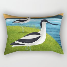 Two Avocets In Suffolk Rectangular Pillow