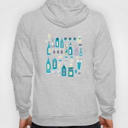 Cocktails And Drinks In Aquas and Pinks Hoody