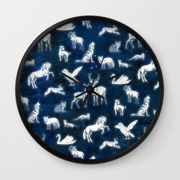 Patronus pattern Wall Clock
