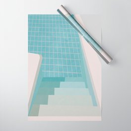 Swimming Pool Summer Wrapping Paper