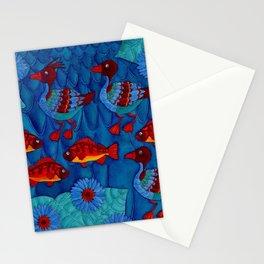 Merganser Ducks Stationery Cards