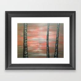 Red Dusk Framed Art Print