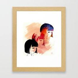 Red Child. Framed Art Print