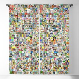 Tennis Stamps Blackout Curtain