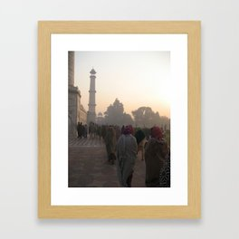 Taj Mahal at Dawn of the Morning. Framed Art Print