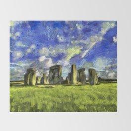 Stonehenge Vincent Van Gogh Throw Blanket
