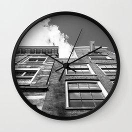 Dutch architecture in Amsterdam Wall Clock