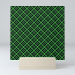 Green Scottish Fabric Mini Art Print