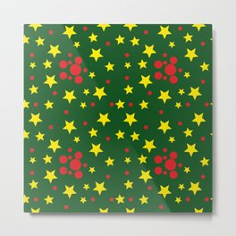 Yellow Stars and Red Balls Metal Print