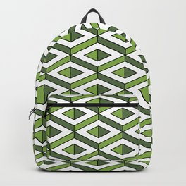 3D geometric pattern in greenery and kale colours Backpack