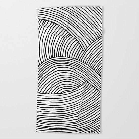 wire 02 Beach Towel