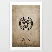 the last airbender Art Prints featuring Avatar Last Airbender - Air by bdubzgear