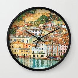 "Gustav Klimt ""Malcesine on Lake Garda"" Wall Clock"