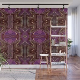 Abstract Purple Ombre Gemstone With Gold Wall Mural