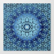Blue Nouveau Mandala Canvas Print