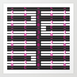 Licorice Bytes, No.4 in Black and Pink Art Print
