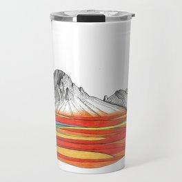 Mountain Landscape Contemporary Art, Mountain drawing, Modern Art, nature , Abstract Art, Mountains Travel Mug