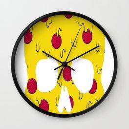 Skull-Pizza Wall Clock