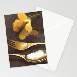 Flowers on Slate, variation 3 Stationery Cards