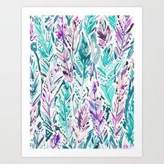FREE FEELINGS Boho Feathers Art Print