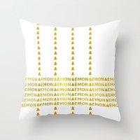 lemon Throw Pillows featuring Lemon by ARTbyJWP