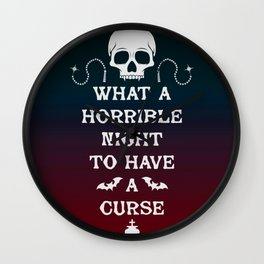 Gamer Geeky Chic Castlevania Inspired What a Horrible Night to Have a Curse Wall Clock