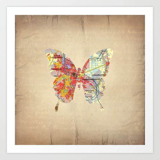 Butterfly - Mexico Art Print