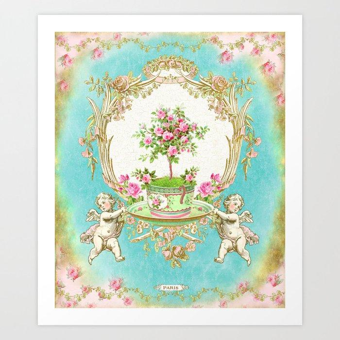 French Baroque Patisserie Tea Art Print