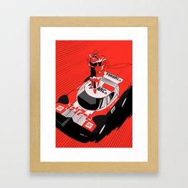 Fire Hero - Fanart.cl Scuderia ver. Framed Art Print