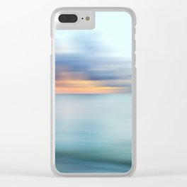 Ocean Sunrise Abstract Clear iPhone Case
