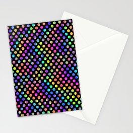 Rainbow Polka Dot Pattern Stationery Cards