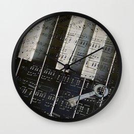 Piano Keys black and white - music notes Wall Clock