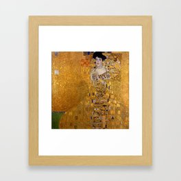 THE LADY IN GOLD - GUSTAV KLIMT Framed Art Print