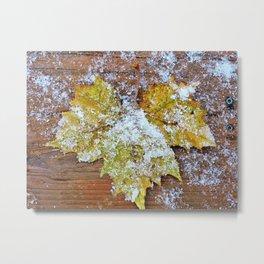 Sycamore Leaf Angel Metal Print
