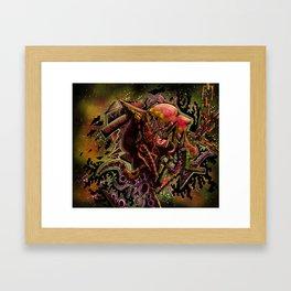 Bi-polar (psychedelic) Framed Art Print