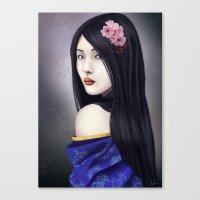 geisha Canvas Prints featuring Geisha by Gosia