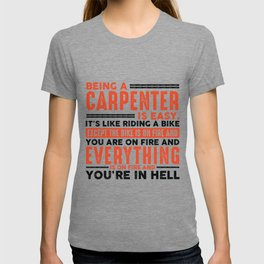 Being a Project Manager Is Easy Shirt Everything On Fire T-shirt