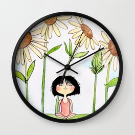 Among the Flowers Wall Clock