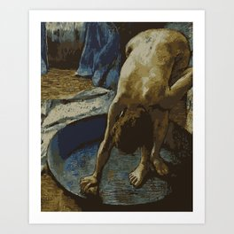Woman in Bath - Degas - Vector Series Art Print
