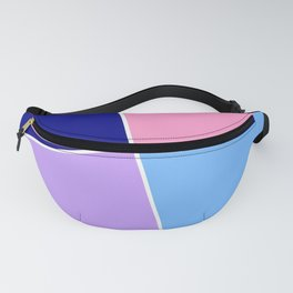 Just three colors 28 Blue, pink and purple Fanny Pack