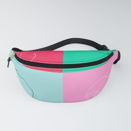Minas: collage one line art Fanny Pack