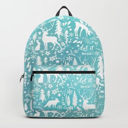 Let it snow! Christmas illustration Backpack