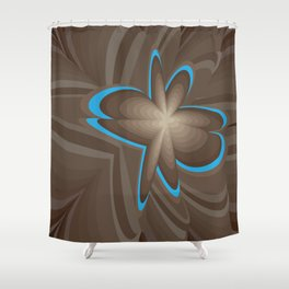 Wood flower 1 Shower Curtain