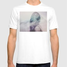 Where is my mind? no.7 White MEDIUM Mens Fitted Tee