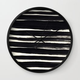 Black Paint Lines on Ivory Wall Clock