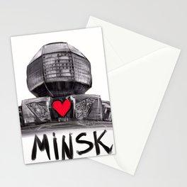 I love Minsk  Stationery Cards