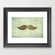 Vintage Stache Framed Art Print