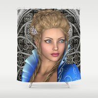 fairytale Shower Curtains featuring Fairytale Princess by Design Windmill