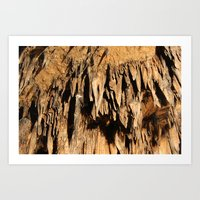 Cave Rock Stone Sharp inside crystal Art Print
